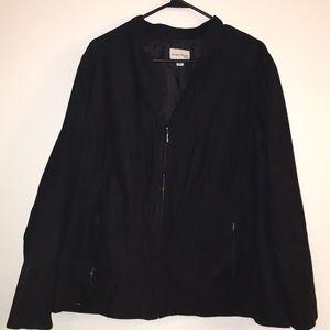 Suede plus size jacket 18W